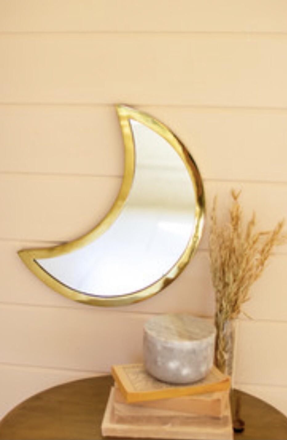 Brass Moon Mirror