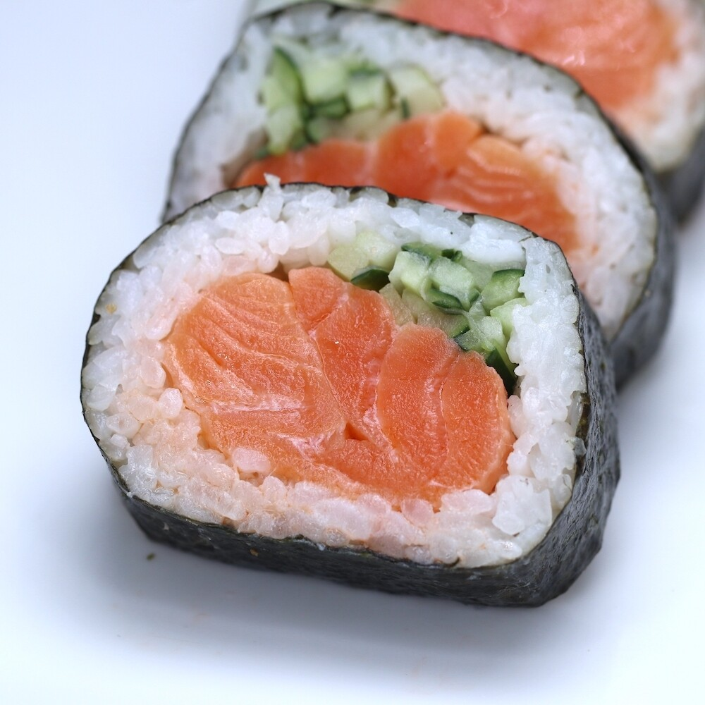Salmon Overload Sushi Roll