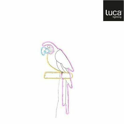 MICA neonlicht papegaai 63x26cm