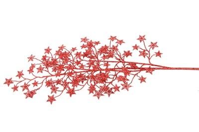 glittertak rode sterren 80cm