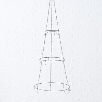 decohanger 3niveau h150cm d50cm metaal zwart