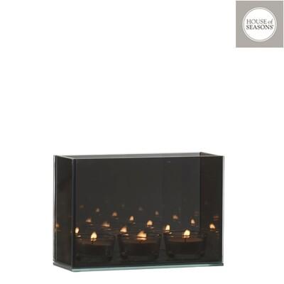 Theelichthouder grijs INFINITY-light 18x7x12