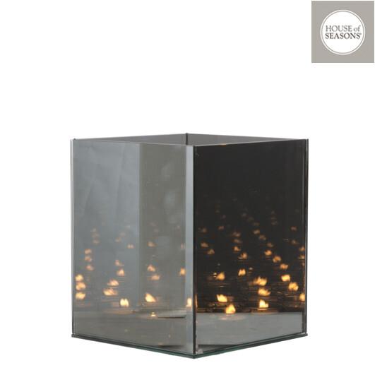Theelichthouder grijs INFINITY-light 18x18x21