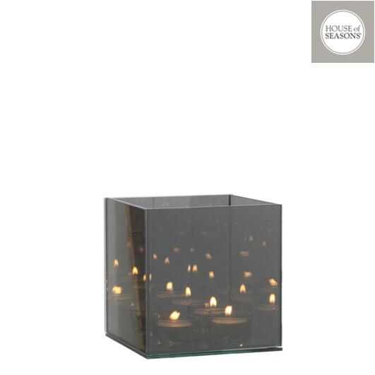 Theelichthouder grijs INFINITY-light 15x15x15
