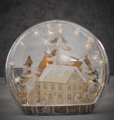 Luca LED wintertafereel huis warmwit 36LED (38x37cm)