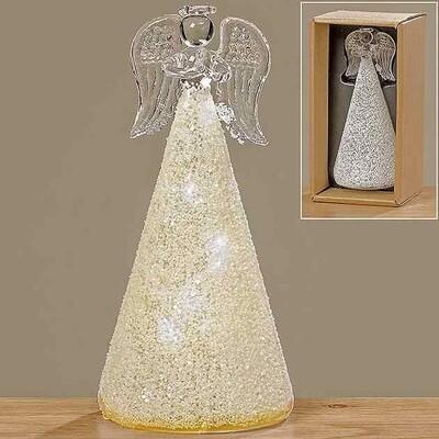 LED angel jiska h15cm glas