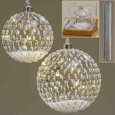 LED tree bal jendrik d12cm glas (1STUK)