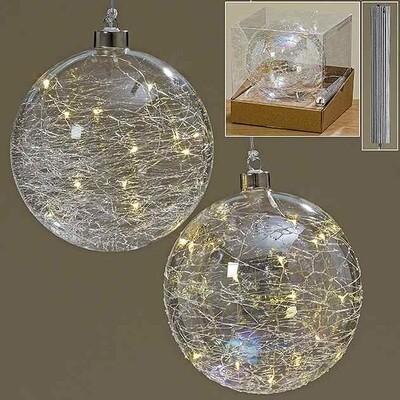 LED tree bal jilia d15cm glas (1STUK)