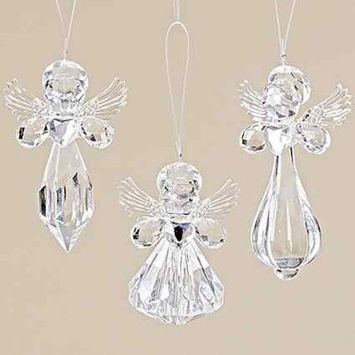 hanger engel acryl h10cm (prijs per 1 stuk)