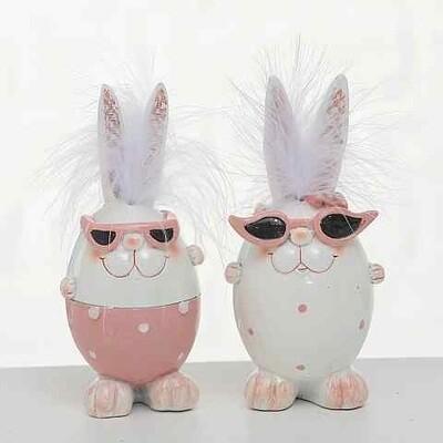 Rabbit swifty H14cm polyresine - 2 modellen prijs PER1