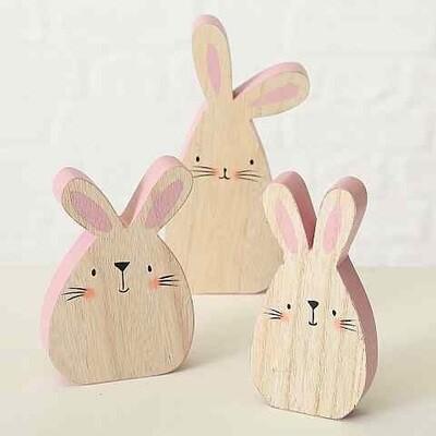 houten konijntje LISU - 3 modellen , prijs PER1