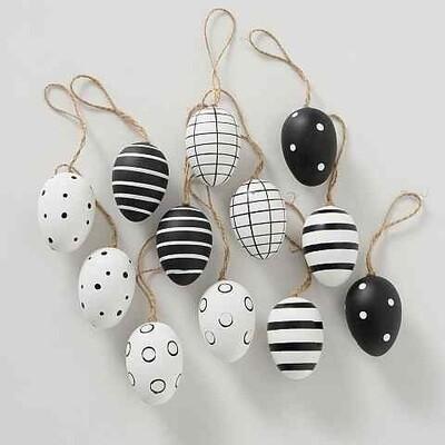 hanger ei H6 dots zwart/wit PLASTIC 6 stuks