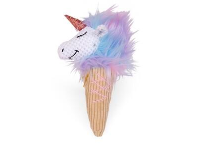 DOGTOY pluche unicorn ijsje 28cm