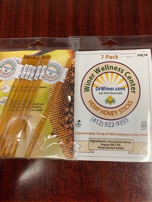 Hemp Honey Sticks  7 pack