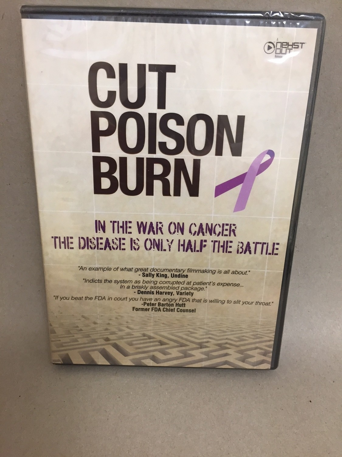 Cut Poison Burn   DVD