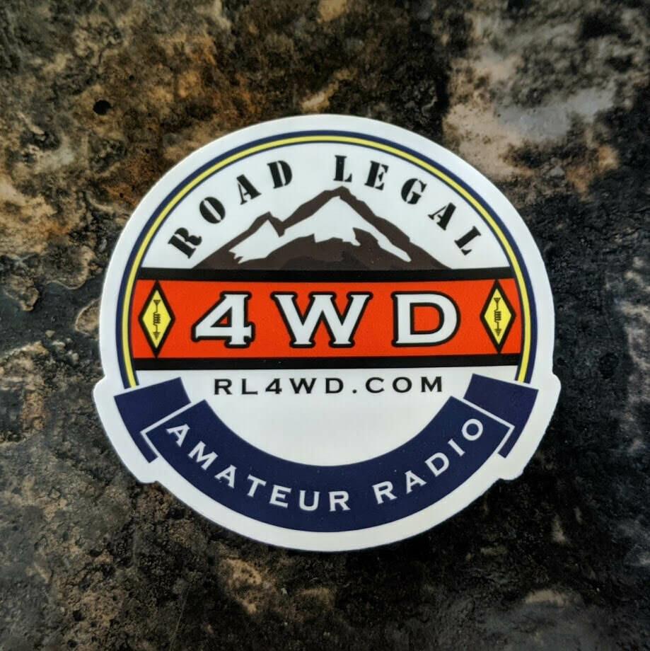 Ham Radio RL4WD Sticker