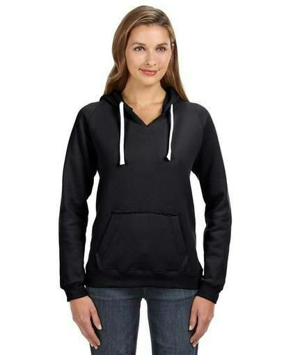 RL4WD Ladies' Brushed V-Neck Hoodie | Custom Embroidery