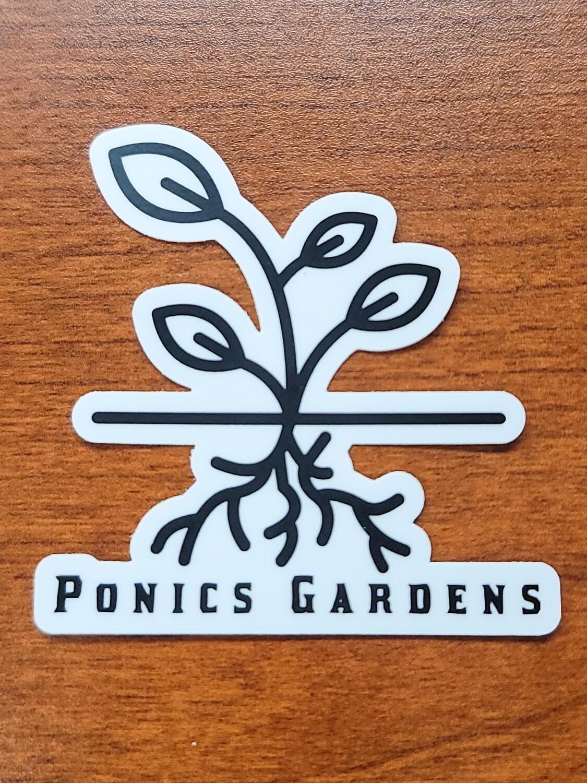Ponics Gardens Sticker Set