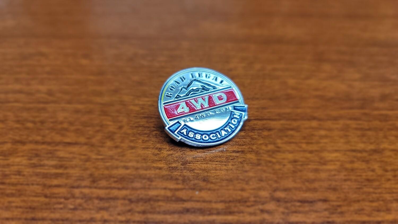Silver Metal RL4WD Collectors Pin