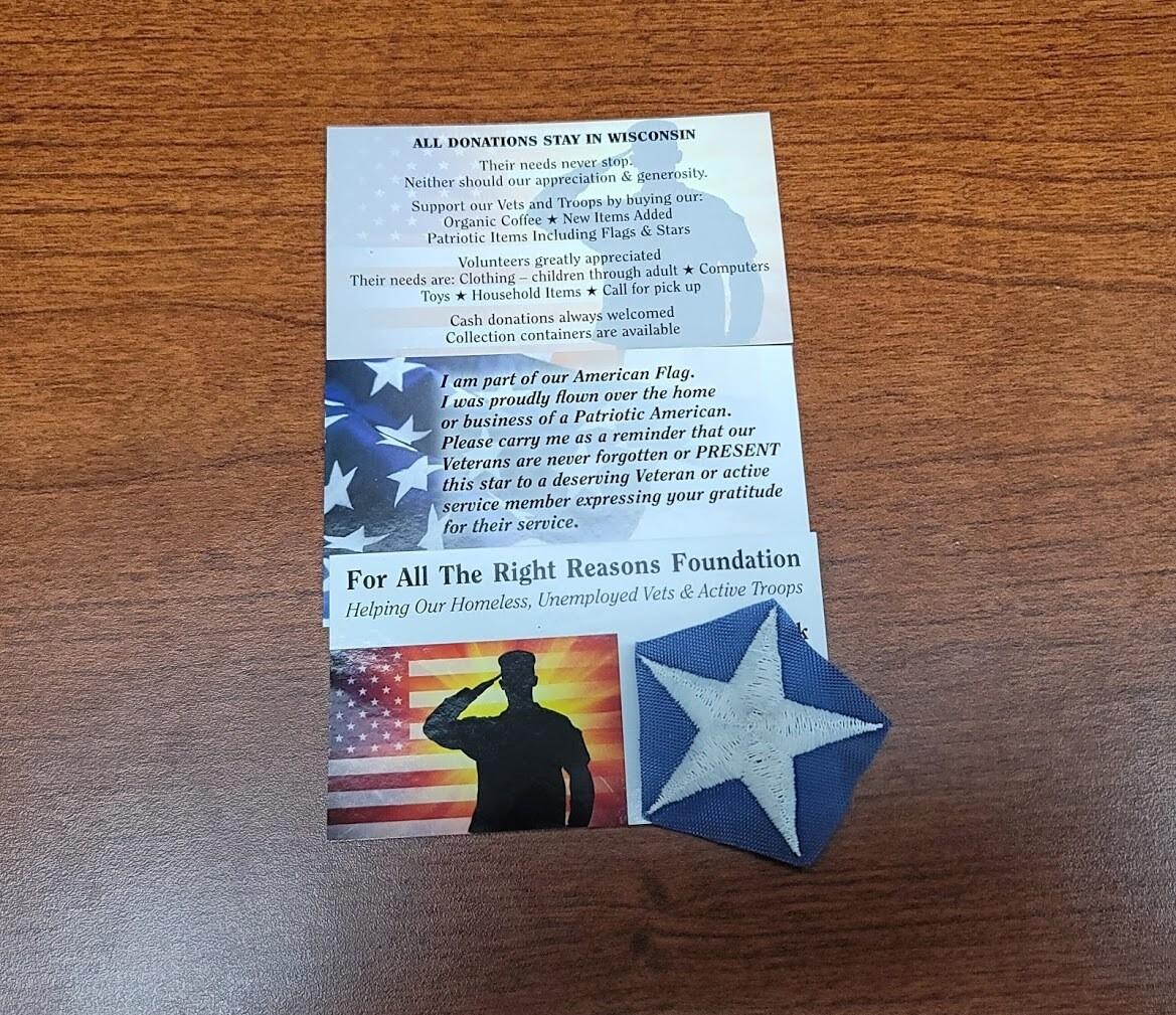 American Flag Veterans Star
