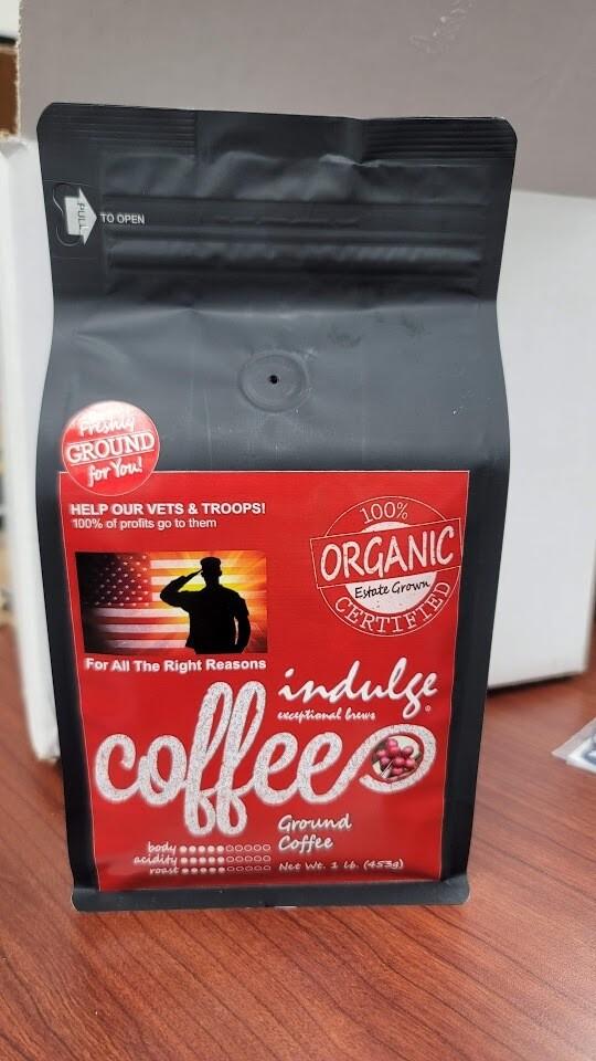 Organic Coffee Vets Fundraiser 1lb Bag | Fresh Ground Medium Blend