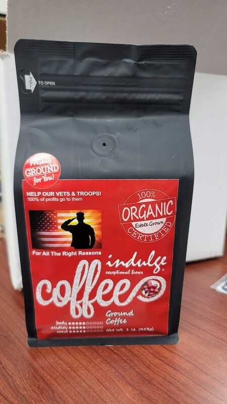 Organic Coffee Vets Fundraiser 1lb Bag | Fresh Ground Medium Blend