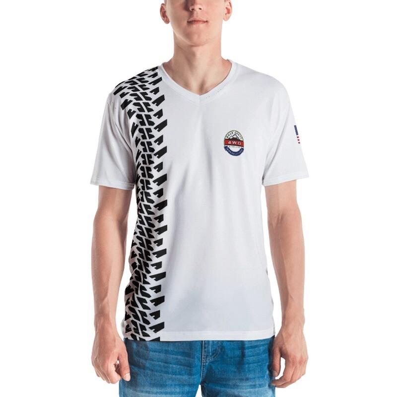 Men's V Neck RL4WD Tread T-shirt