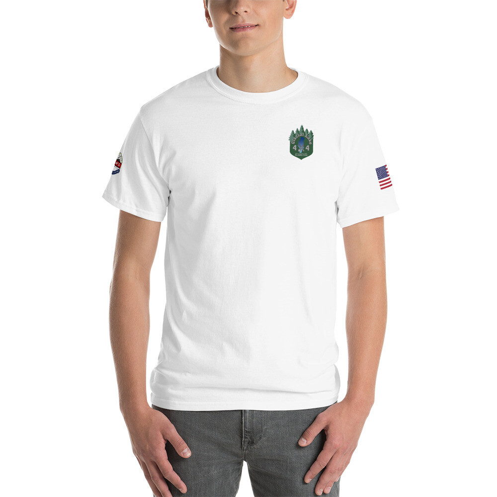 Glacial Lake Men's RL4WD USA Basic Short Sleeve T-Shirt