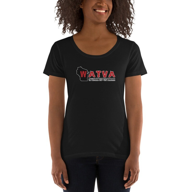 Ladies' WATVA Scoopneck T-Shirt