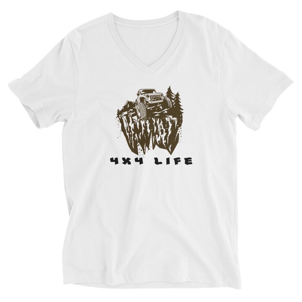 4X4 Life RL4WD Unisex Short Sleeve V-Neck T-Shirt