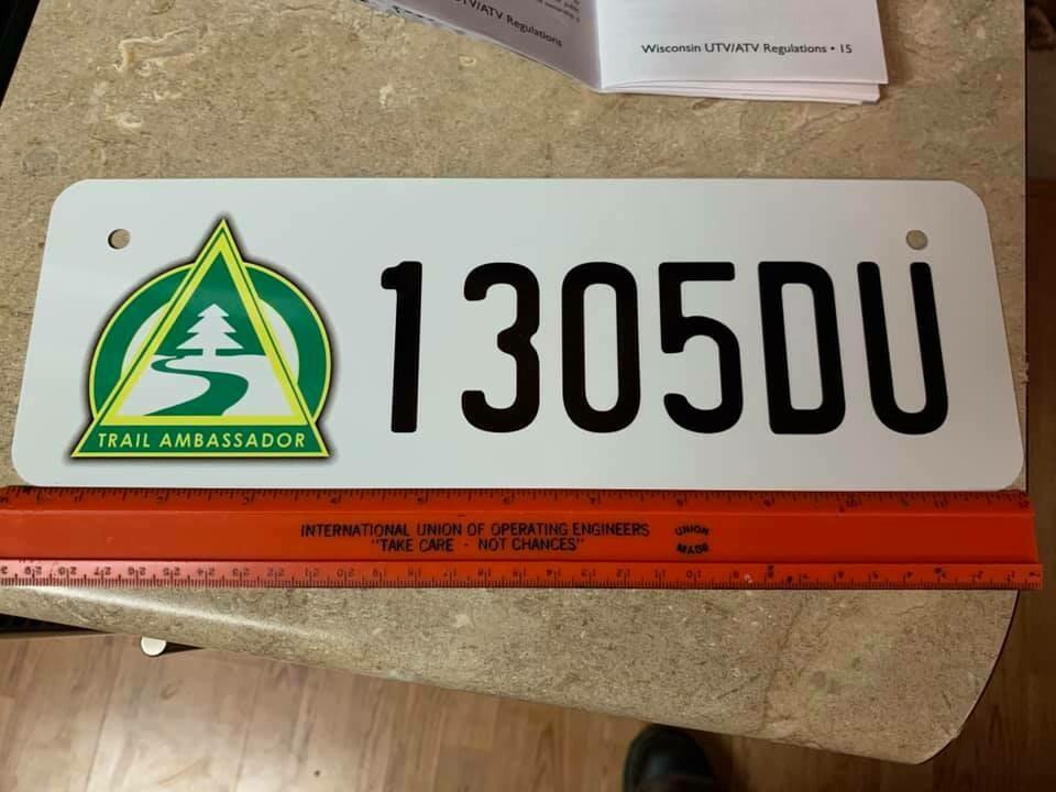 Trail Ambassador ATV / UTV License Plate