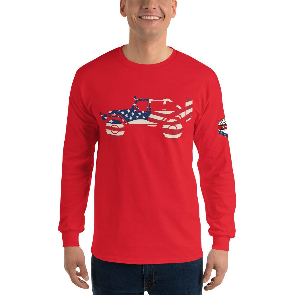 Unisex Long Sleeve USA Wrangler Shirt