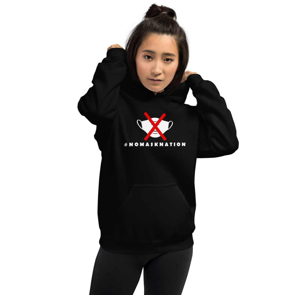 #NoMaskNation Unisex Dark Hoodie