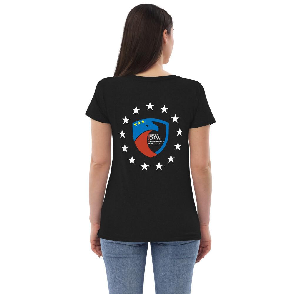 13 Stars USPC Women's recycled v-neck t-shirt