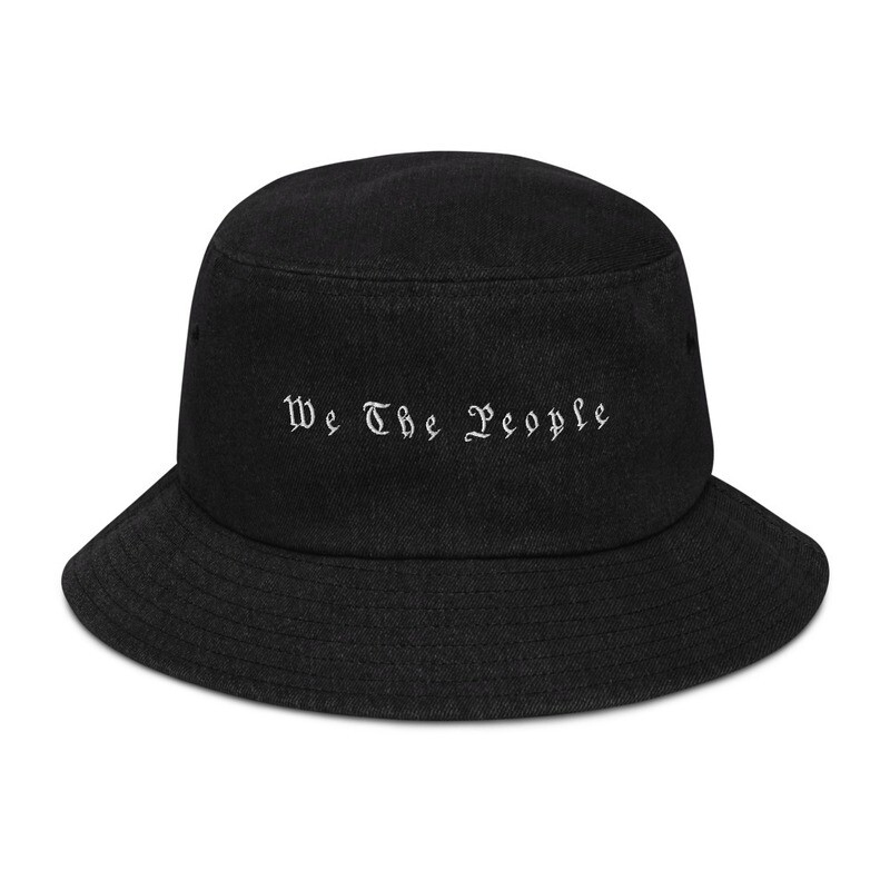 We The People Denim bucket hat