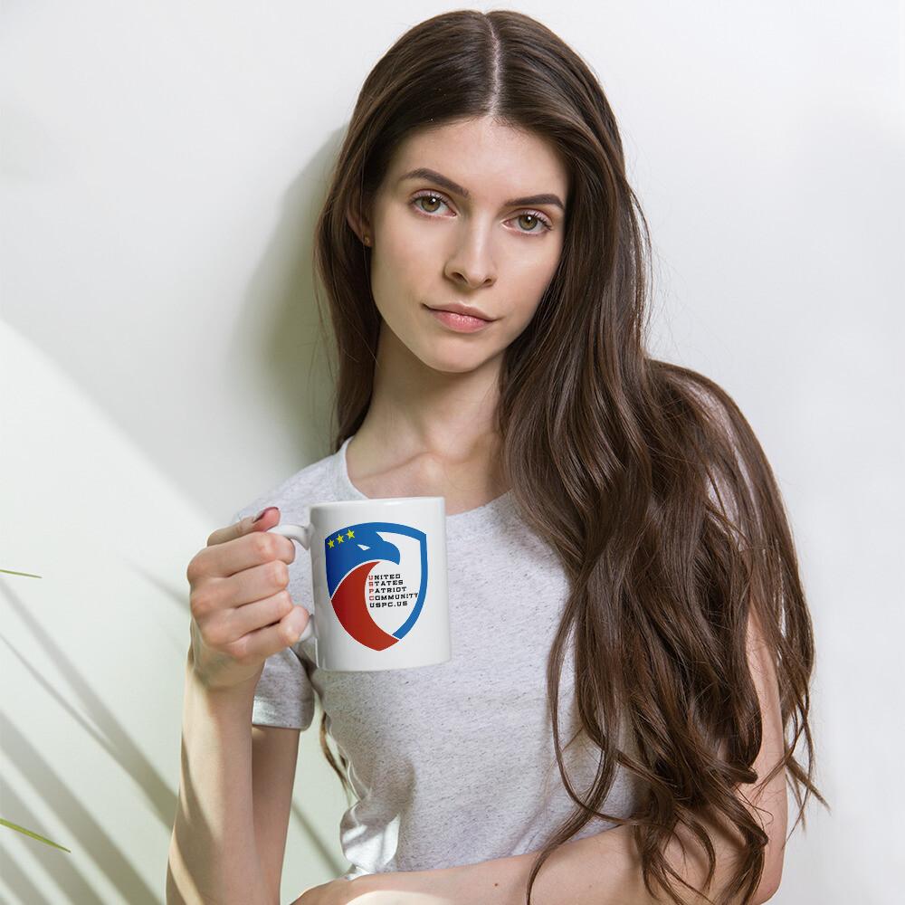 USPC White Glossy Mug