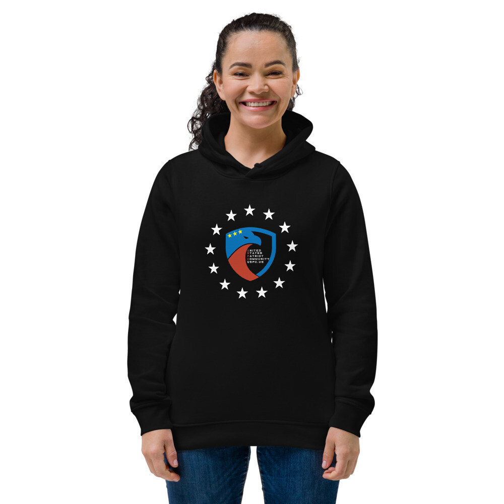 USPC Stars Women's eco fitted hoodie