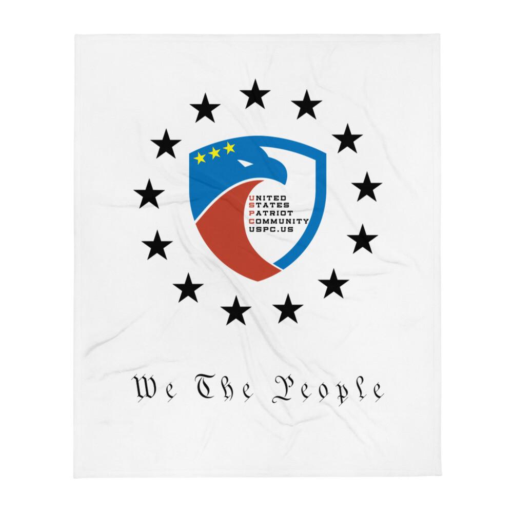 USPC Stars We The People Throw Blanket