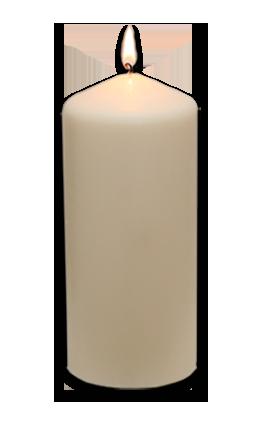 Kerze ohne Motiv