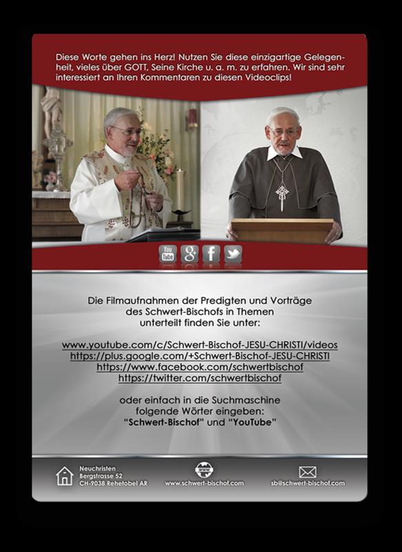 YouTube-Flyer des Schwert-Bischofs