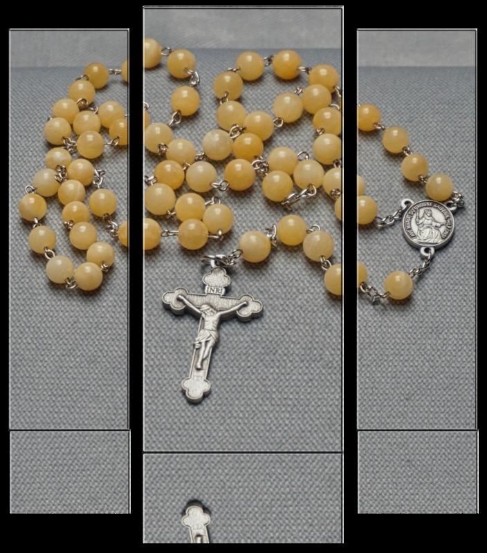 Rosenkranz – Naturstein Jaspis gelb