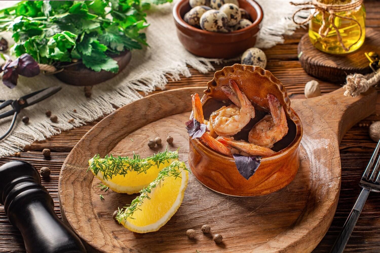 Смачні креветки в соусі «Песто»