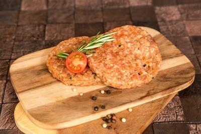 Rindshamburger mit Gemüse, 2 Stück in Schale