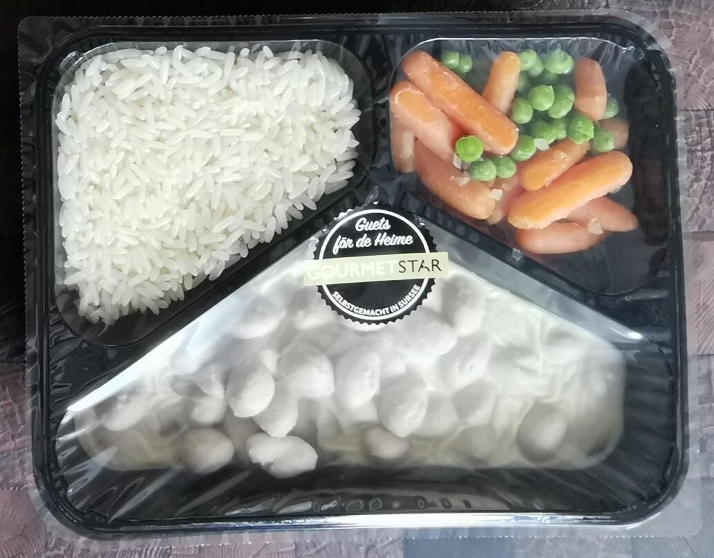Pastetli mit Kalbsbrätkügeli, Reis und Erbsli&Rüebli - Exklusiv für Bekon Dagmersellen Mitarbeitende