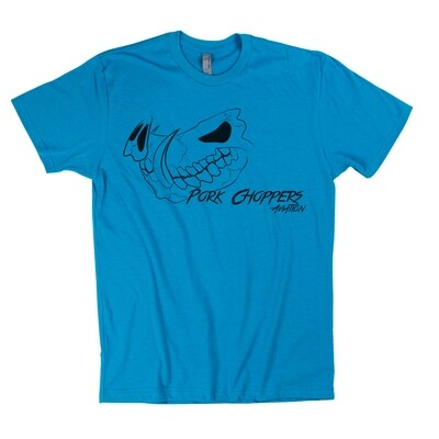 Blue Pork Choppers Aviation T-Shirt