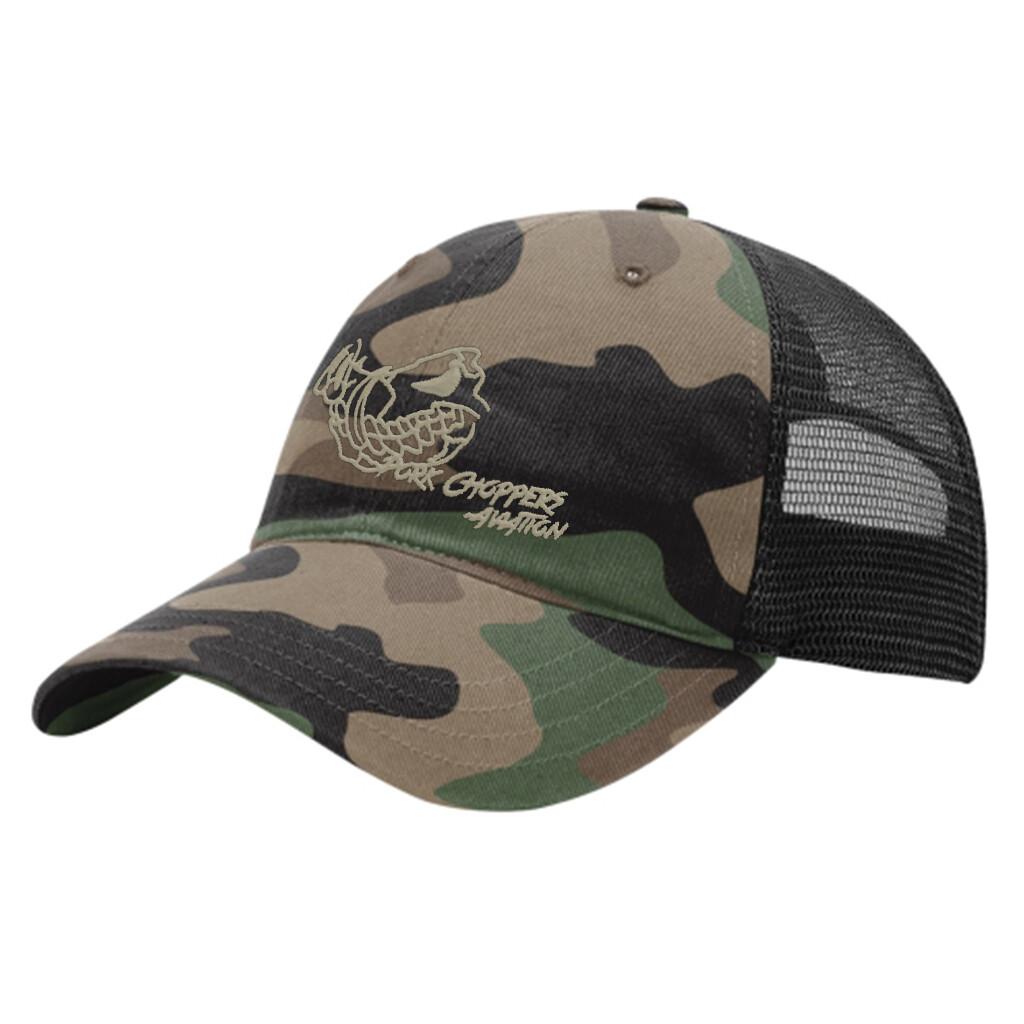 Pork Choppers Camo Low-Profile Trucker Hat
