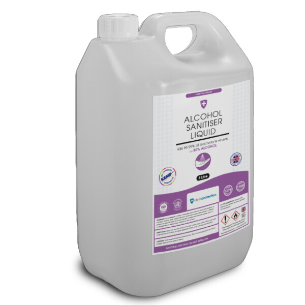 80% Alcohol Hand Sanitiser Liquid - 5 Litre