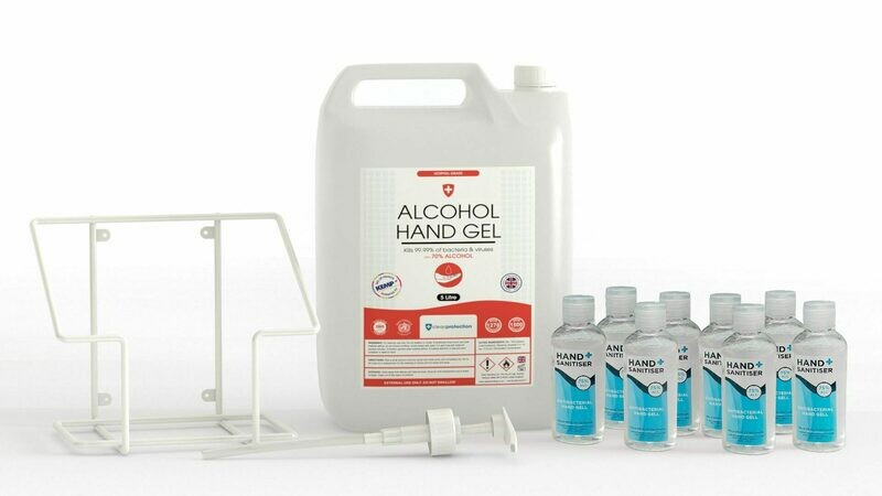 5 Litre 70% Alcohol GEL Pelican Pump Bundle Pack