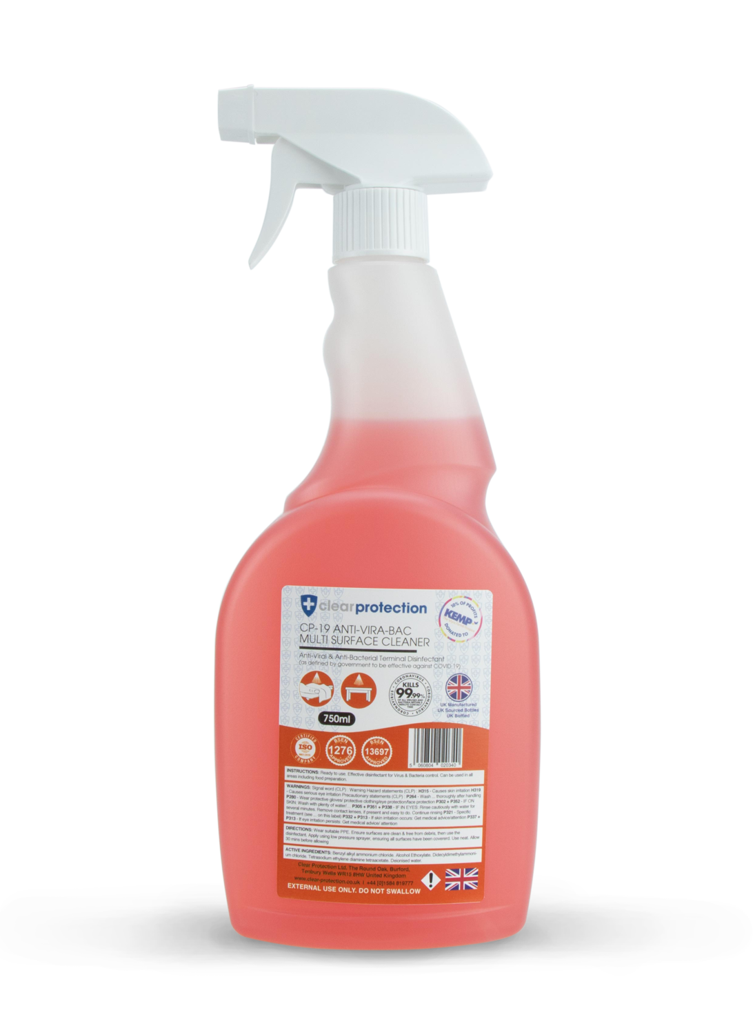 CP-19 Anti-Vira-Bac Multi-Surface Cleaner with Trigger Spray - 750ml