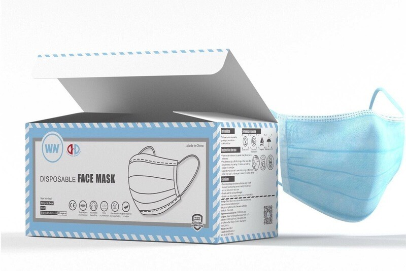 3 Layer Protective Masks - Box of 50